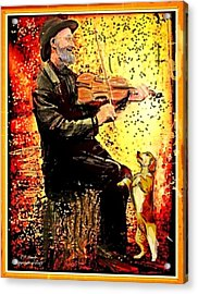 The Music Lover. Acrylic Print by Larry Lamb