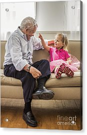 Grandpa's Little Princess Acrylic Print by Diane Diederich