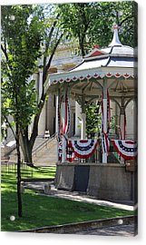 Acrylic Print featuring the photograph Grandstand Patriotism  by Natalie Ortiz
