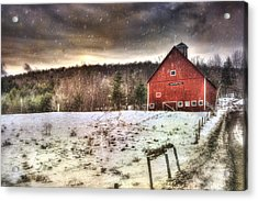 Grand View Farm - Vermont Red Barn Acrylic Print