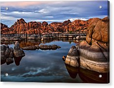 Granite Dells At Watson Lake Arizona 2 Acrylic Print by Dave Dilli