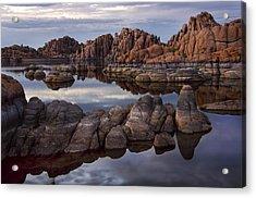 Granite Dells At Watson Lake Arizona Acrylic Print by Dave Dilli