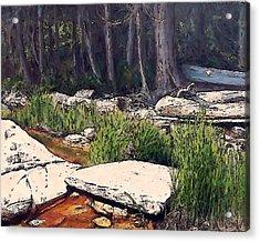 Granite On Beach Acrylic Print