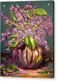 Granny Mabry's Lilacs Acrylic Print by Barbara Pirkle