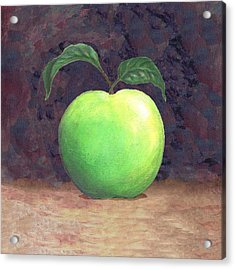 Granny Smith Apple Two Acrylic Print by Linda Mears