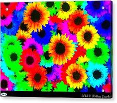 Granny's Garden Colorful Acrylic Print