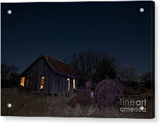 Grannys Old Farm Acrylic Print by Keith Kapple