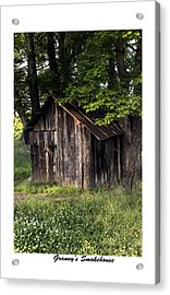 Granny's Smokehouse Acrylic Print by Terry Spencer