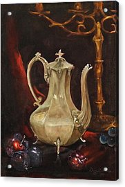 Acrylic Print featuring the painting Grannys Teapot by Dan Redmon