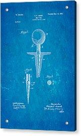 Grant Golf Tee Patent Art 1899 Blueprint Acrylic Print by Ian Monk