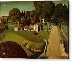Grant Wood Birthplace Of Herbert Hoover 1931 Acrylic Print by Movie Poster Prints