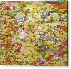 Grape Abundance Acrylic Print by PainterArtist FIN
