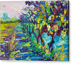 Grape Vines Painting Acrylic Print