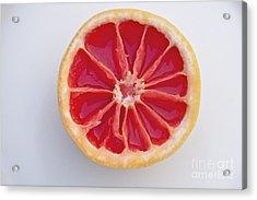 Grapefruit Mandala Acrylic Print