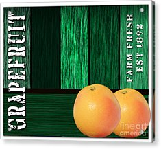 Grapefruit Sign Acrylic Print by Marvin Blaine