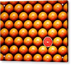 Grapefruit Slice Between Group Acrylic Print