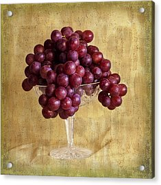 Acrylic Print featuring the photograph Grapes And Crystal Still Life by Sandra Foster