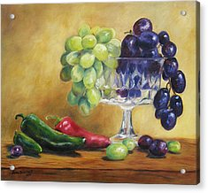 Grapes And Jalapenos Acrylic Print