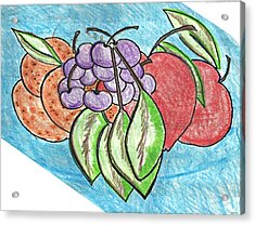Grapes Acrylic Print by Becky Sterling