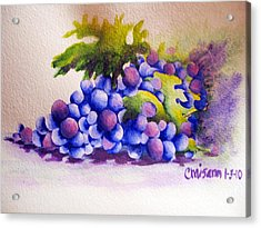 Grapes Acrylic Print by Chrisann Ellis
