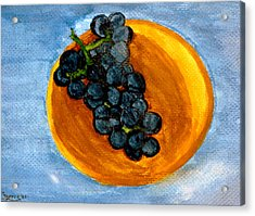 Grapes In Bowl Acrylic Print
