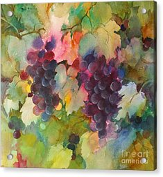 Grapes In Light Acrylic Print