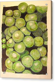 Grapes In Progress Acrylic Print by Joseph Hawkins
