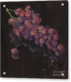 Grapes In Reflection Acrylic Print by Maria Hunt