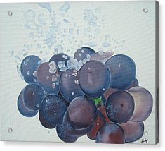 Grapes In Water Acrylic Print by Angela Melendez