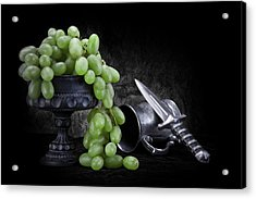 Grapes Of Wrath Still Life Acrylic Print by Tom Mc Nemar