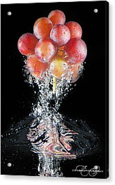 Grapes Splash Acrylic Print