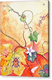 Acrylic Print featuring the painting Grapevine Beetle by Katherine Miller