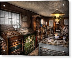 Graphic Artist - Upper And Lower Case  Acrylic Print by Mike Savad