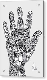 Graphic Hand Acrylic Print