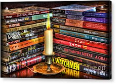 Graphic Novels By Candlelight  Acrylic Print