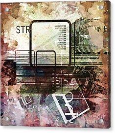 Graphic Square Art Acrylic Print by Lutz Baar