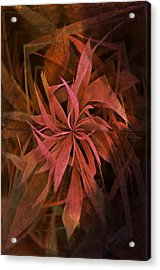 Grass Abstract - Fire Acrylic Print by Marianna Mills