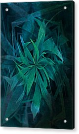 Grass Abstract - Water Acrylic Print by Marianna Mills