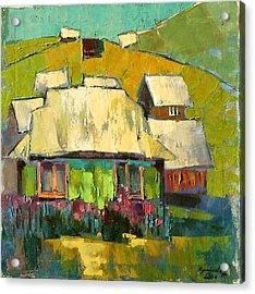 Grass In The Yard Acrylic Print by Anastasija Kraineva