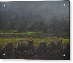 Grass It's What's For Dinner Acrylic Print by Mia DeLode