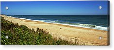 Grass On The Beach, Montauk Point Acrylic Print by Panoramic Images