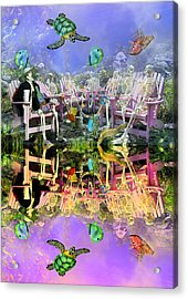 Grateful Get Together Acrylic Print by Betsy Knapp
