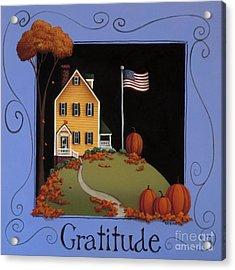 Gratitude Acrylic Print by Catherine Holman