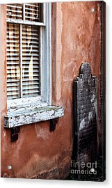 Grave By The Window Acrylic Print by John Rizzuto