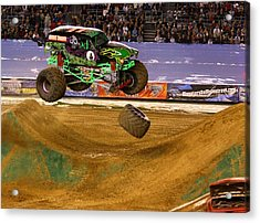 Acrylic Print featuring the photograph Grave Digger Loses A Wheel by Nathan Rupert