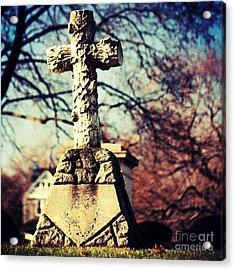 Grave With Cross Acrylic Print