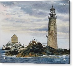 Graves Light House Acrylic Print by Karol Wyckoff