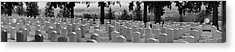 Gravestone At The Military Cemetery Acrylic Print by Panoramic Images