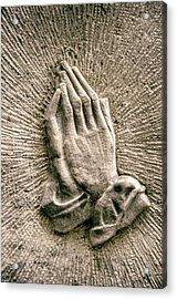 Gravestone Hands Acrylic Print