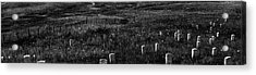 Gravestones On Last Stand Hill Acrylic Print by Panoramic Images